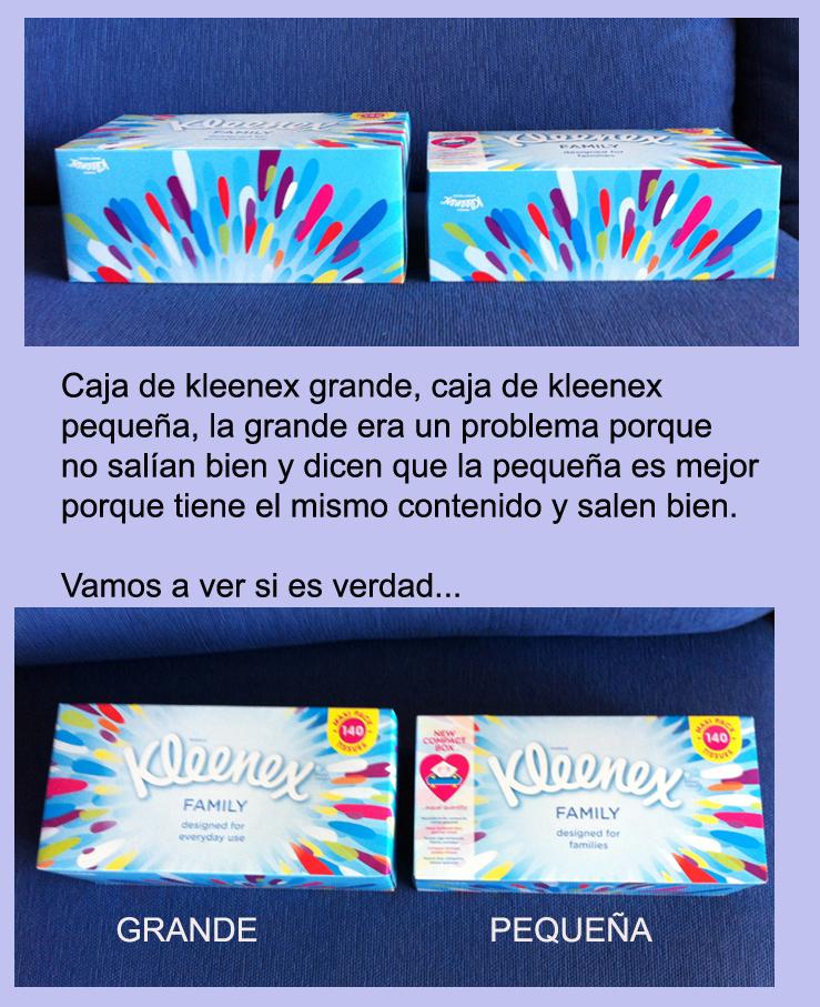 Kleenex 2 fotos en una
